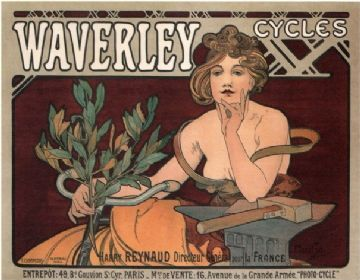 Vintage French bicycle advertisment - Waverly bicycles